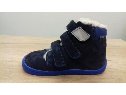 Beda vyšší zimní barefoot obuv Daniel s membránou na suchý zip 0001/WMK/40004
