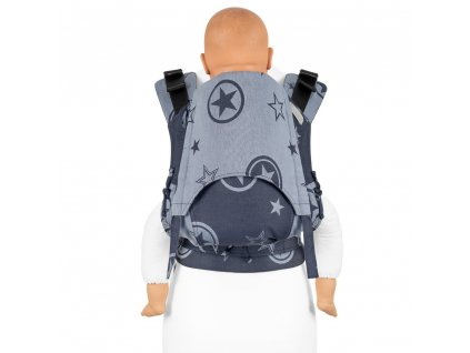 toddler size fidella fusion baby carrier with buckles outer space blue hemp