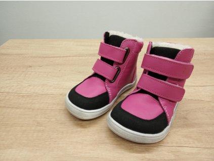 Baby Bare Shoes zimní barefoot obuv FEBO Winter Fuchsia