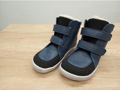 Baby Bare Shoes zimní barefoot obuv FEBO Winter Navy