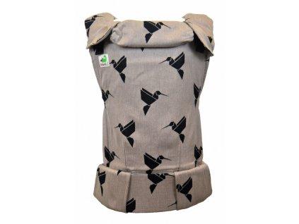 Ergonomické nosítko MoniLu UNI - Colibri Sand včetně slintáčků