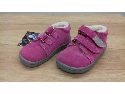 Beda zimní barefoot obuv Rebecca s membránou a kožíškem na suchý zip 0001/WMK/40005