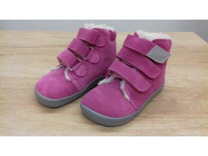 Beda vyšší zimní barefoot obuv Rebecca s membránou na suchý zip 0001/WMK/40007