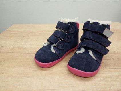 Beda vyšší zimní barefoot obuv Elisha s membránou na suchý zip 0001/WMK/40009
