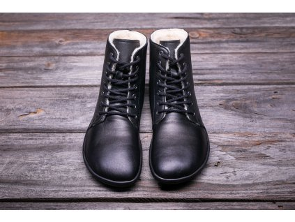 Be Lenka zimní barefoot obuv Winter Black Černé