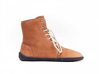 Be Lenka zimní barefoot obuv Winter Cognac