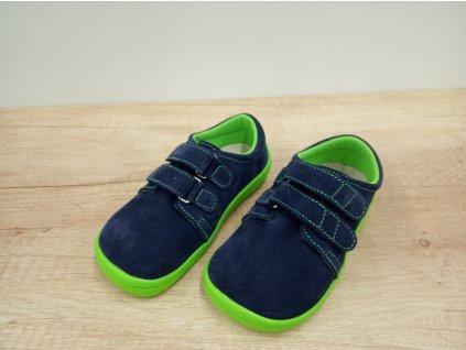 Beda celoroční barefoot obuv Marcus nízký na suchý zip