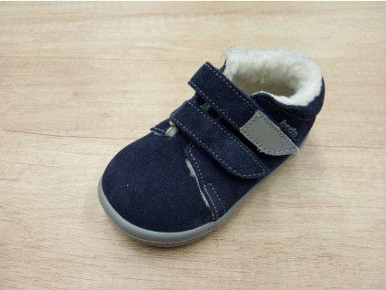 Beda zimní barefoot obuv Lucas s membránou na suchý zip 0001/WMK/40010