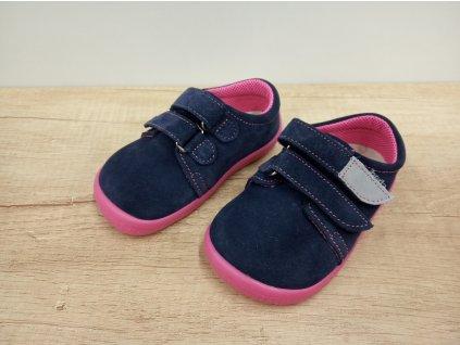 Beda celoroční barefoot obuv Elisha nízký na suchý zip