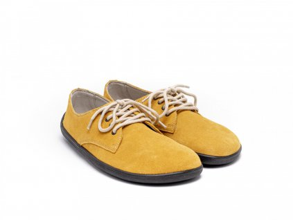 Be Lenka celoroční barefoot obuv City Mustard