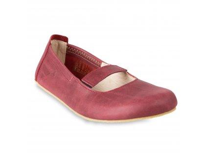 Angles Fashion barefoot baleríny AFRODITA Burgundy