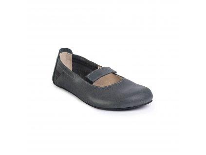 Angles Fashion barefoot baleríny AFRODITA Antracite