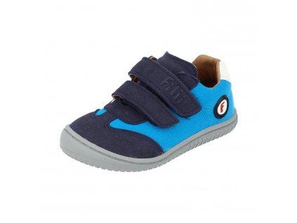 Filii barefoot tenisky Sneaker Leguan Velcro Textile Turquois W V22041-228