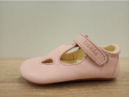 Froddo barefoot capáčky a sandály Prewalkers Pink G1130006-1