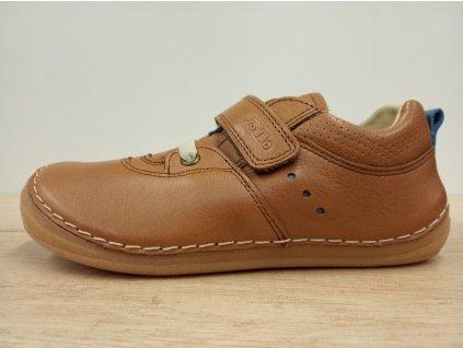 Froddo celoroční barefoot obuv - Flexible Sneakers Brown s tkaničkami G2130189-4