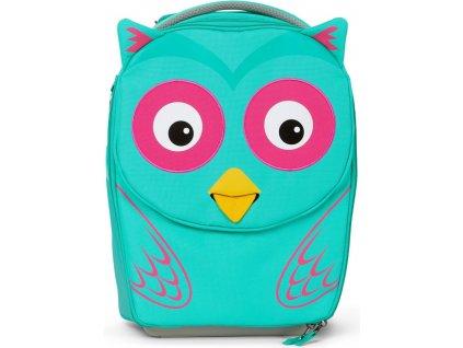 Affenzahn Dětský cestovní kufřík Suitcase Olivia Owl turquoise (1)