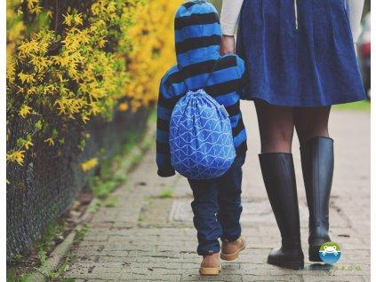 eng pl Carrier Bag Little Frog Blue Hourglasses 5352 2