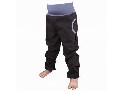 Šijeme srdcem Černé softshellové kalhoty s fleecem 3418