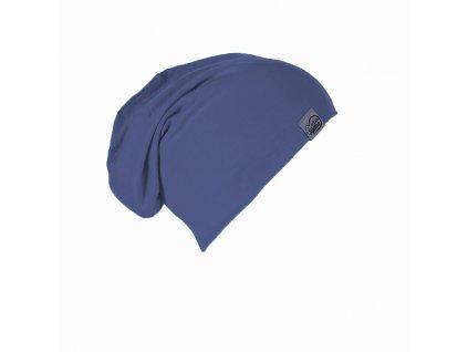 Šijeme srdcem Bambusová džínově modrá čepice 0220