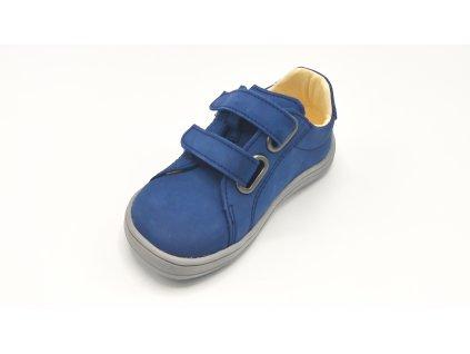 Baby Bare Shoes (barefoot celoroční obuv) Febo Spring - Navy - nubuk