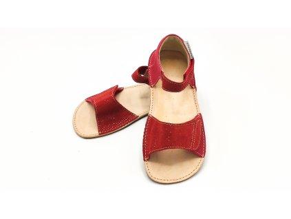 OKBarefoot dětské sandály Mirrisa D203/H červené