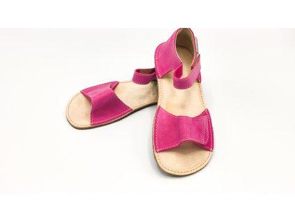 OKbarefoot dětské sandály Mirrisa D203/H růžové