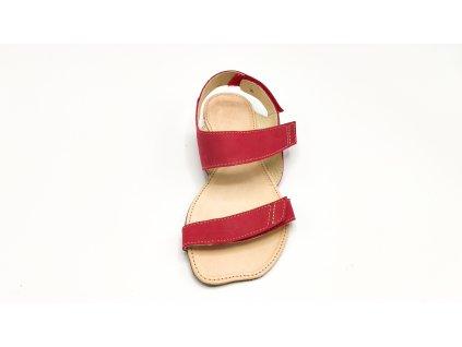 OKBarefoot letní sandály Bora A108 červené