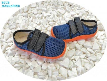 Beda barefoot síťované tenisky Blue Mandarine