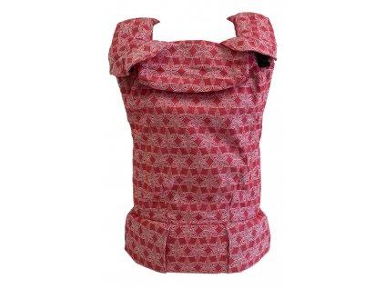 Ergonomické nosítko MoniLu UNI - FlowerField Red včetně slintáčků