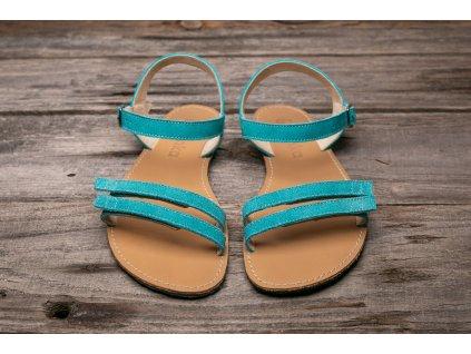 Be Lenka barefoot sandály Summer Turquoise (7)