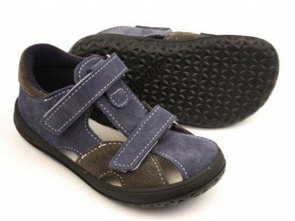 Jonap barefoot sandálky B8/S SLIM- Modro šedá