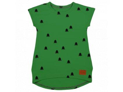 Šijeme srdcem Dětské khaki šaty les s kapsami 2321