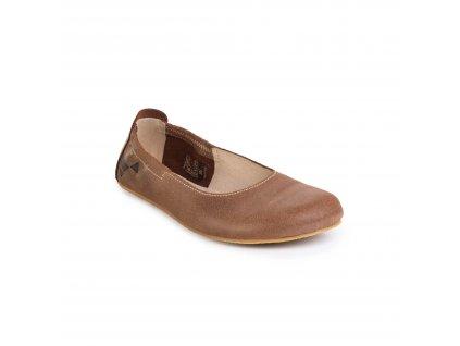 Angles Fashion barefoot baleríny AFRODITA Light Brown