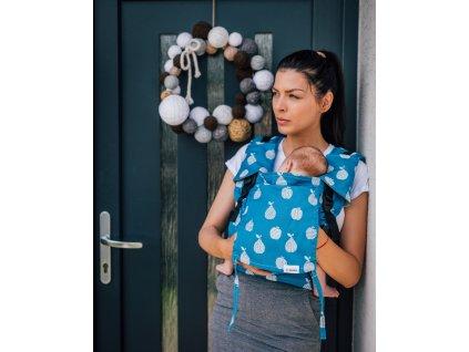 Ergonomické nosítko Lenka Mini Fruits Blue klasické popruhy + chrániče ramenních popruhů (6)