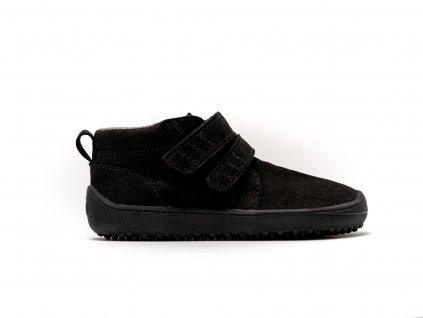 Be Lenka celoroční barefoot obuv Kids Play All Black 01 (1)