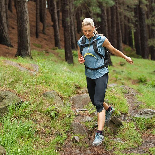 Kalorická hodnota 10 minutového běhu v závislosti na hmotnosti běžce a tempu