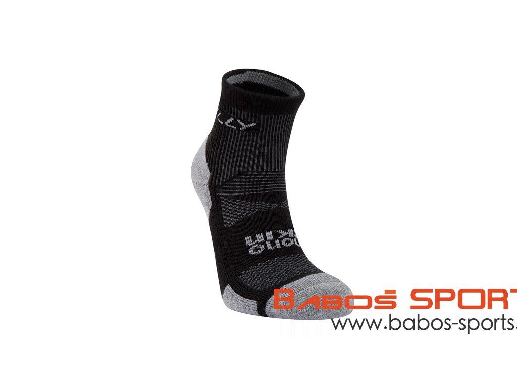 hilly padded anklet socks black grey