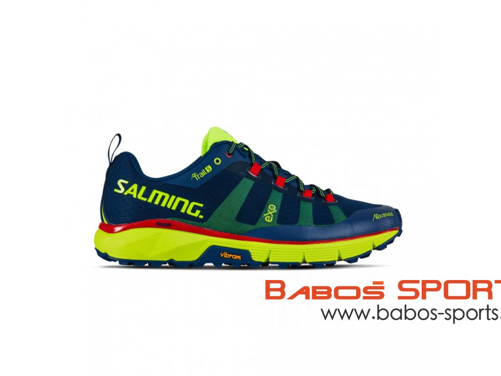 salming trail 5 men poseidon blue safety yellow
