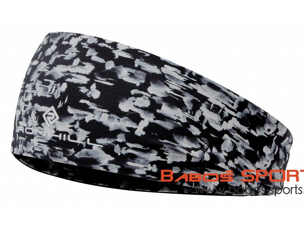 RH 004252 Rh 00743 Black Mono Mushroom Reversible Contour Headband Front