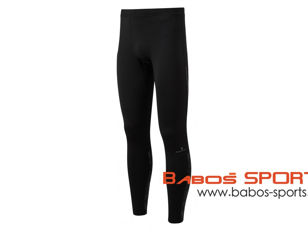 RH 005014 R954 Black Reflect Mens Life Night Runner Tight Front
