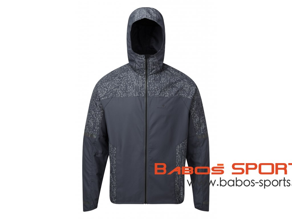 RH 004902 Rh 00296 Charcoal Reflect Mens Life Night Runner Jacket Front
