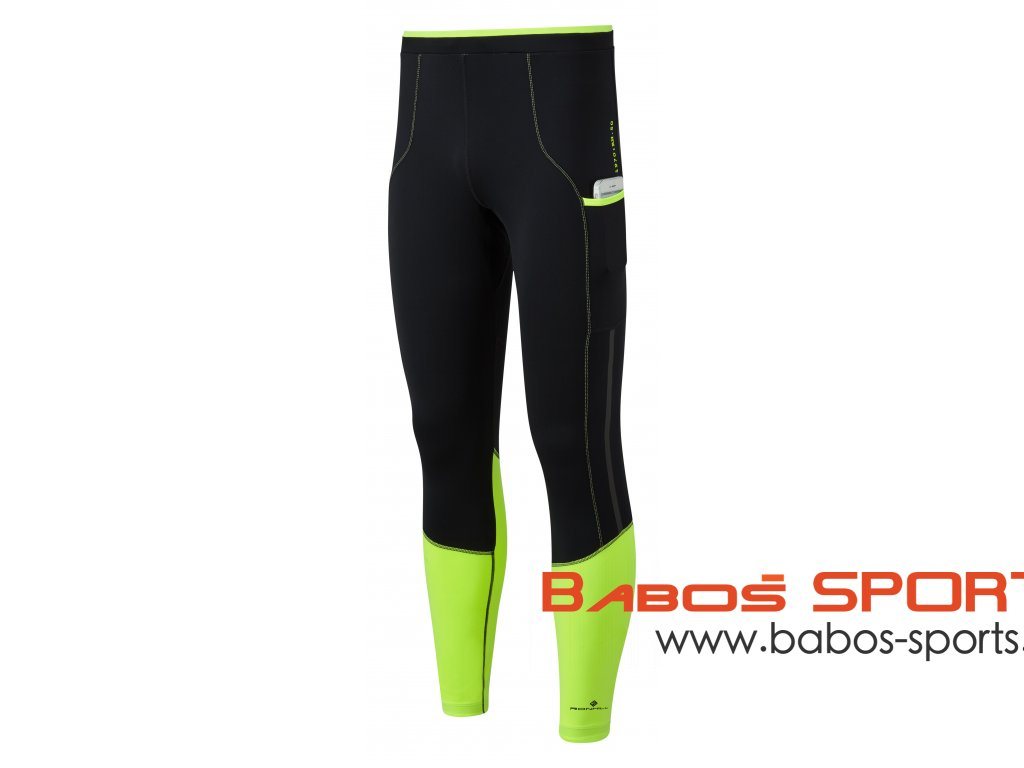 RH 004895 R042 FluoYellow Black Mens Tech Revive Stretch Tight Front