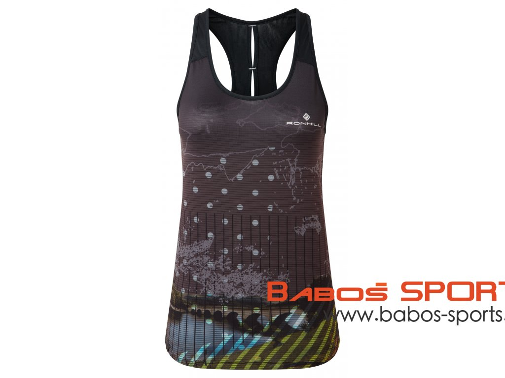 RH 005436 RH 00681 Black Bright White Womens Tech Revive Racer Vest Front