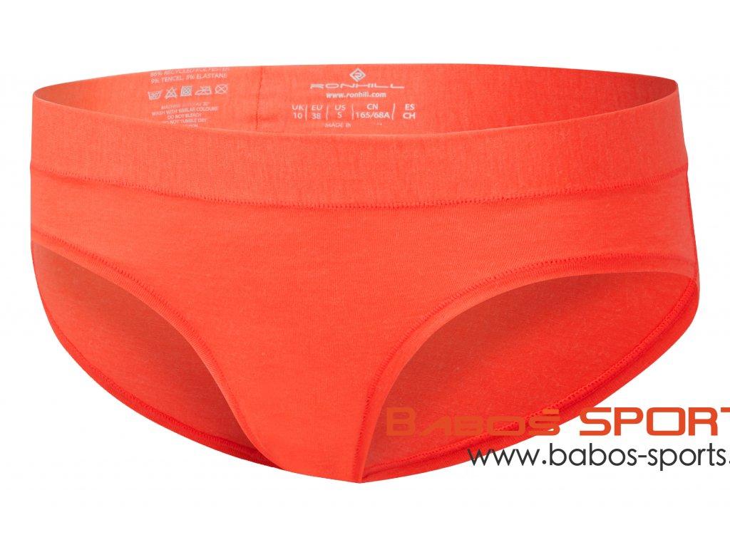 RH 003843 Rh 00723 Hot Coral Marl Womens Brief Front