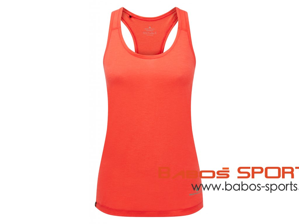 RH 005337 Rh 00723 Hot Coral Marl Womens Life Tencel Vest Front