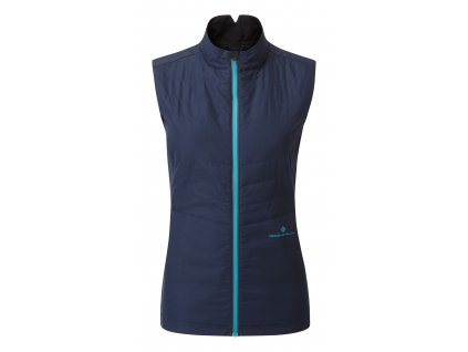 RH 005175 Rh 00671 DeepNavy SpaGreen Womens Tech Winter Gilet Front