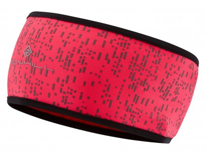 RH 005137 Rh 00608 HotPink Reflect Night Runner Headband Front