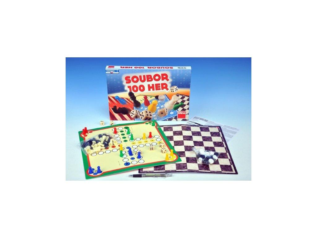 Soubor her 100 společenská hra v krabici 33x23x3,5cm