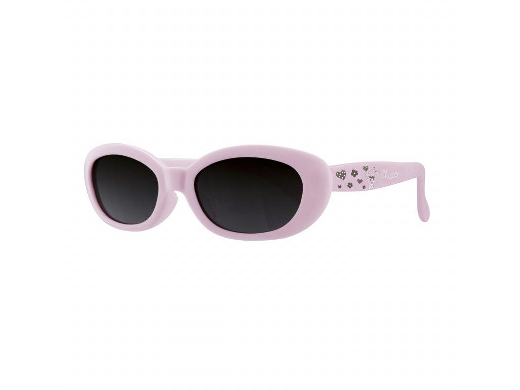 Brýle sluneční dívka bl. růžové 0M +