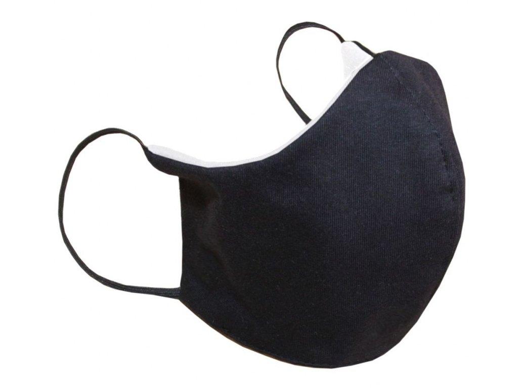 Rouška dvouvrstvá XL- černá